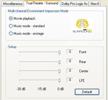 PowerDVD 8 Configuration: Audio - Advanced