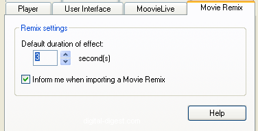 PowerDVD 8 Configuration: Movie Remix