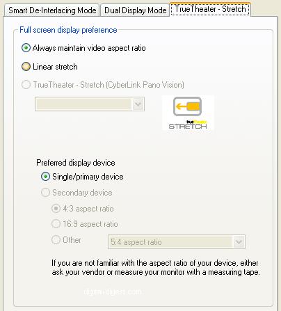 PowerDVD 8 Configuration: Video - Advanced