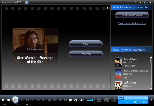 Dvd resume feature
