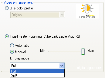 PowerDVD 8: TrueTheater Lighting