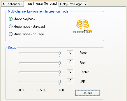 PowerDVD 9 Configuration: Audio - Advanced