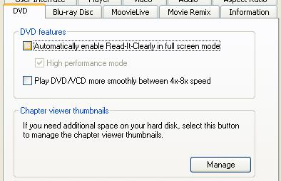 PowerDVD 9 Configuration: BDROM