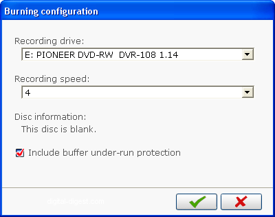 PowerProducer: Burning Configuration