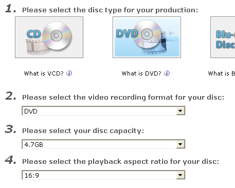 PowerProducer: Select your disc
