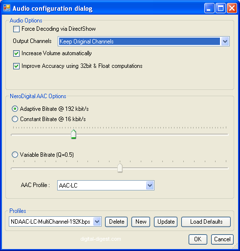 MeGUI: ND AAC Config