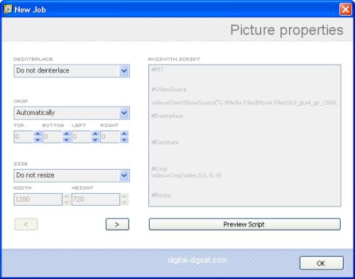 RipBot264: Output Properties