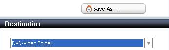Roxio Video Copy & Convert: Destination: DVD-Video Folder