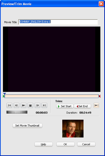 Roxio Video Copy & Convert: Movie Editor