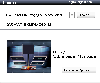 Roxio Video Copy & Convert: Source Loaded