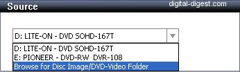 Roxio Video Copy & Convert: Source Select