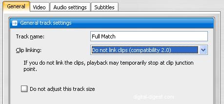 TDA: Track Settings - General