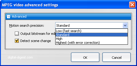 TDA: Video advanced settings