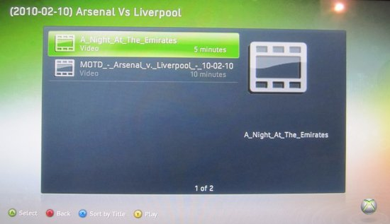 Xbox 360: Select File
