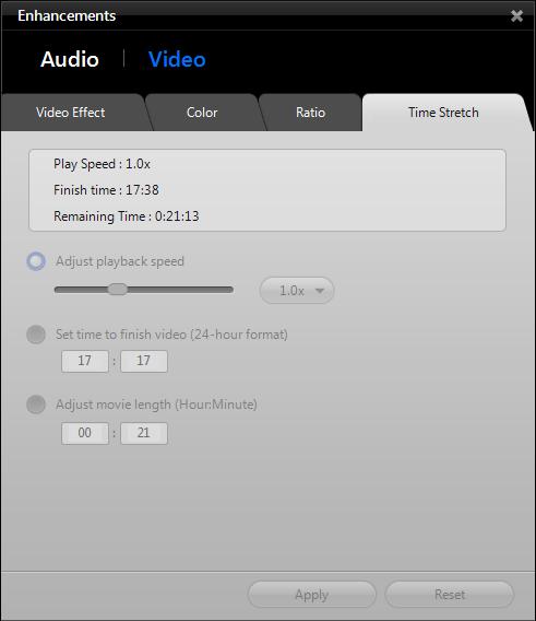 WinDVD 11: Enhancements - Video Speed