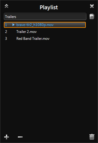 WinDVD 11: Playlist