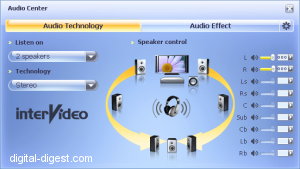 WinDVD 8.0's Audio Center