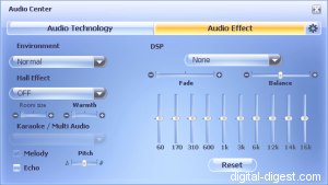WinDVD 8.0's Audio Effects