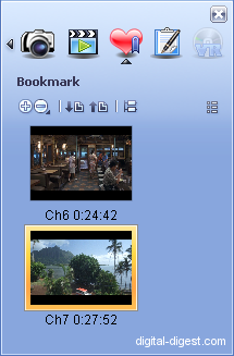 WinDVD 8.0's Bookmark Editor
