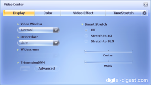 WinDVD 8.0's Display Settings