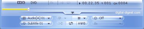 WinDVD 8.0's DVD Sub-Panel