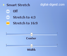 WinDVD 8.0's Smart Strech options