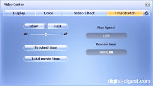 WinDVD 8.0's Time Stretch Function