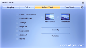 WinDVD Platinum 8.0's Stackable Video Effects