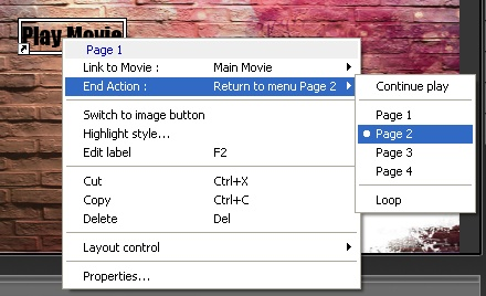 EasyDVD: Menu - Play Movie End Action