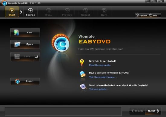 EasyDVD: Start