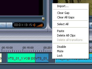 Womble MPEG Video Wizard: Clear All Gaps