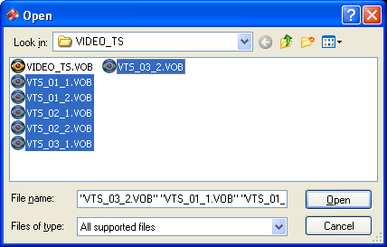 Womble MPEG Video Wizard: Import From DVD