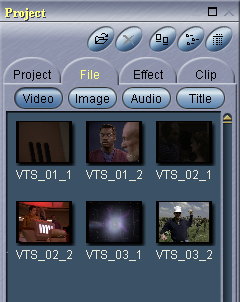 Womble MPEG Video Wizard: Loaded Source Files