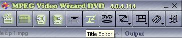 Womble MPEG Video Wizard: Title Editor
