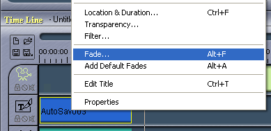 Womble MPEG Video Wizard: Add Fade to Title
