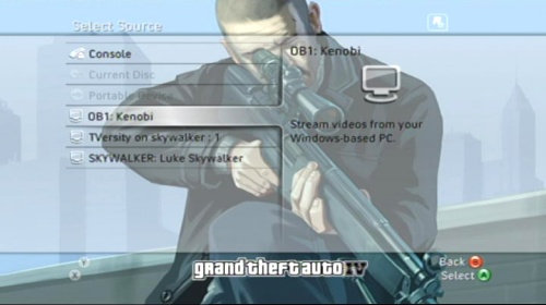 Xbox 360: Media - Video Source Select
