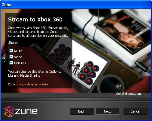 Zune: Xbox 360 Media Streaming