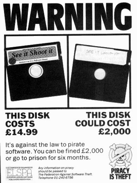 Floppy Disk Piracy Poster