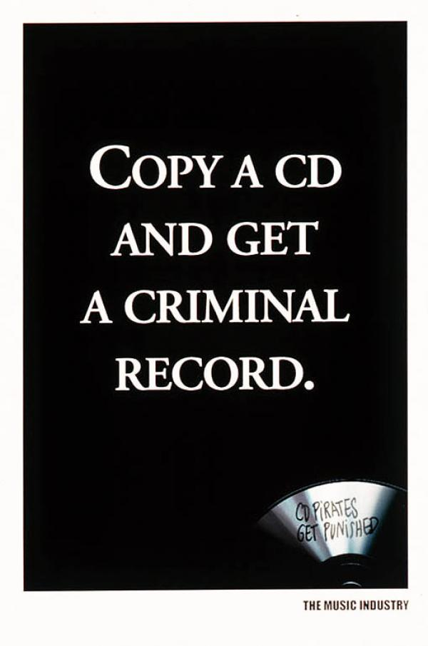 Music Piracy Newspaper Ad