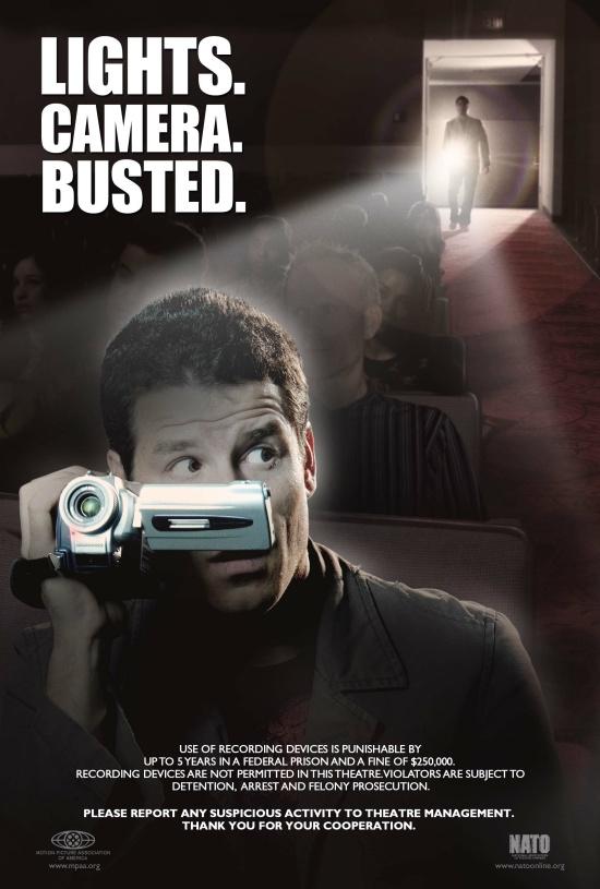 Cinema Camcording Anti-Piracy Poster