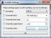 Subtitles Preferences