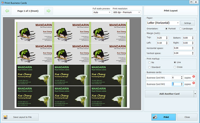 Business card maker 915 software digital digest editing a business card printing business cards reheart Image collections