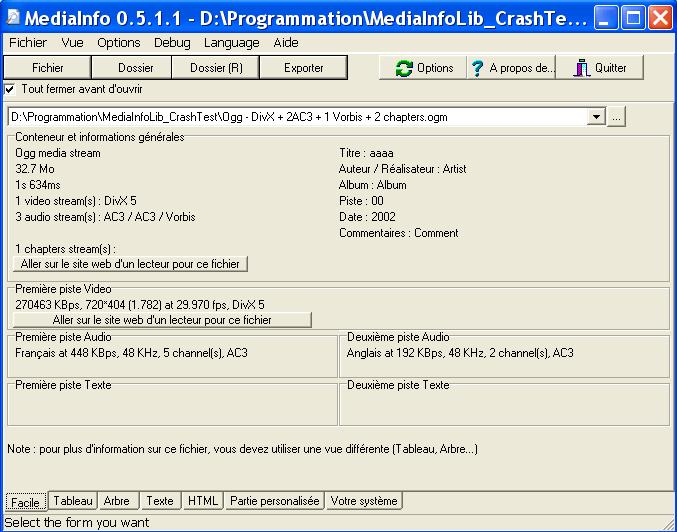 MediaInfo (x64bit) screenshot