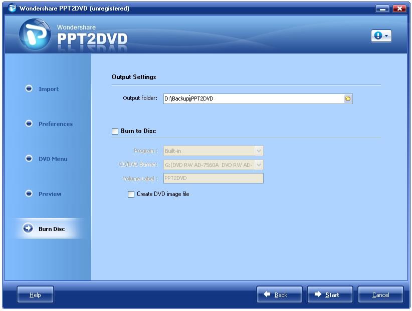 software ppt2dvd