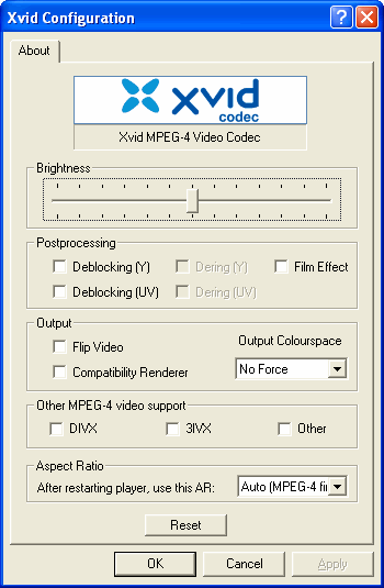 Xvid mpeg 4 video codec