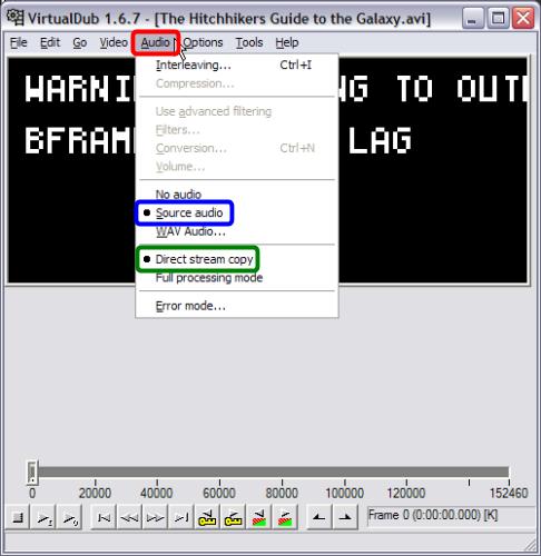 encode avi: